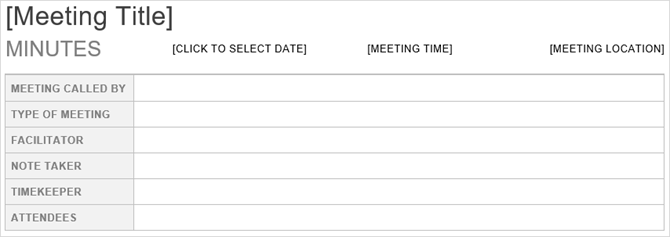 3 Free Templates to Keep Meetings on Track and Useful MeetingMinutesTop Word