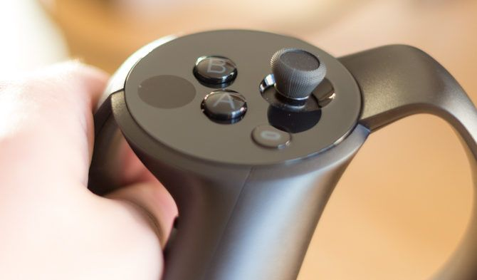 Oculus Touch VR Controllers Review Oculus Touch controllers thumbrest and buttons 670x393