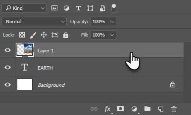 Image Layer above the Text Layer
