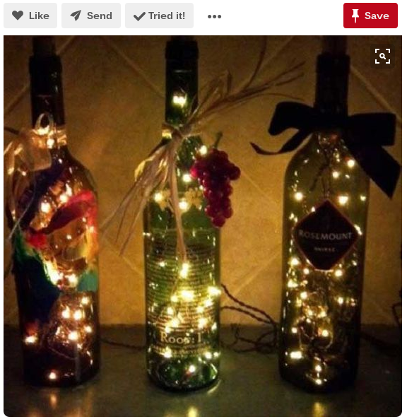 romantic wine bottle lights