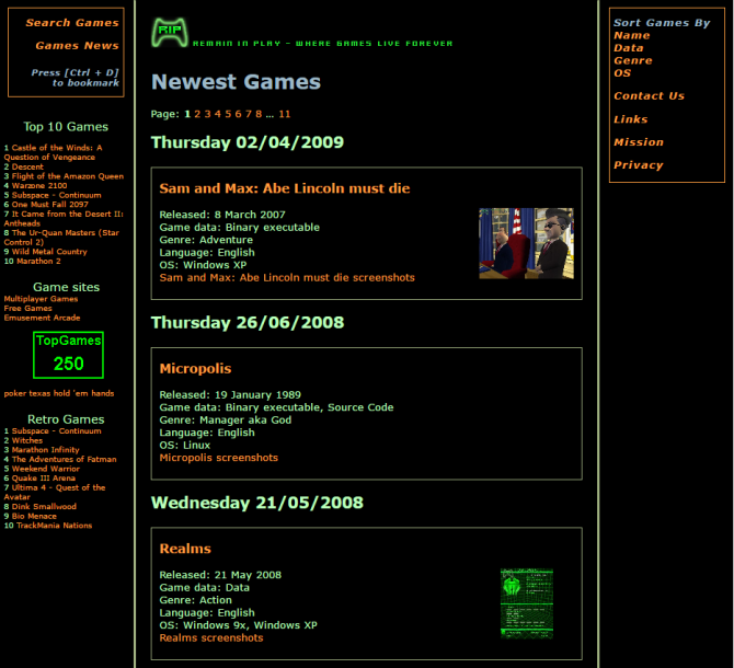 4 Sites Where You Can Download Old PC Games For Free Remain In Play Homepage