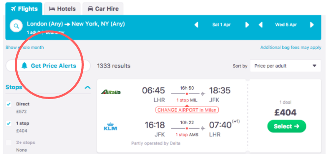 How to Find Last Minute Flights and Travel Deals Online Skyscanner Price Alerts 670x314