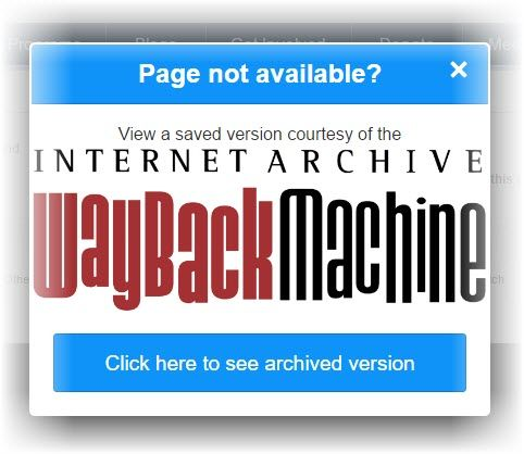 Wayback Machine Chrome extension