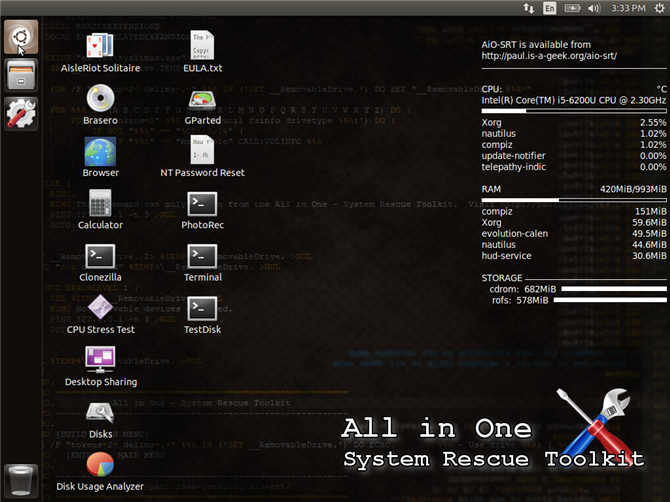 The PC Repair Toolkit in Your Pocket: Boot CD on a USB Stick all in one system rescue toolkit