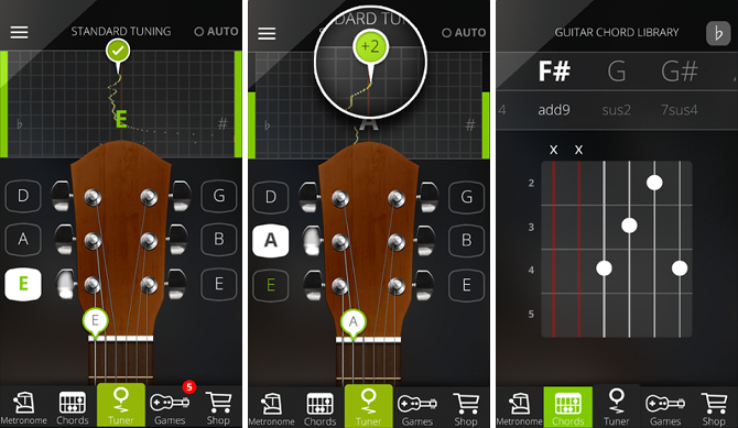 5 Free Apps That Help You Learn and Play Guitar android app guitartuna