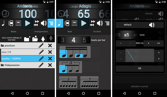 5 Free Apps That Help You Learn and Play Guitar android app metronomerous