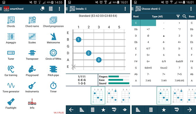 5 Free Apps That Help You Learn and Play Guitar android app smartchord