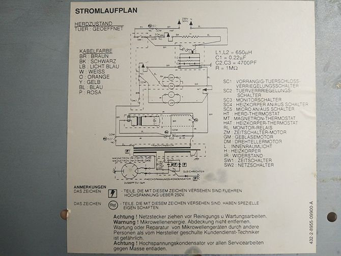How to Safely Take Apart a Microwave and What to Do With the Parts circuit diagram