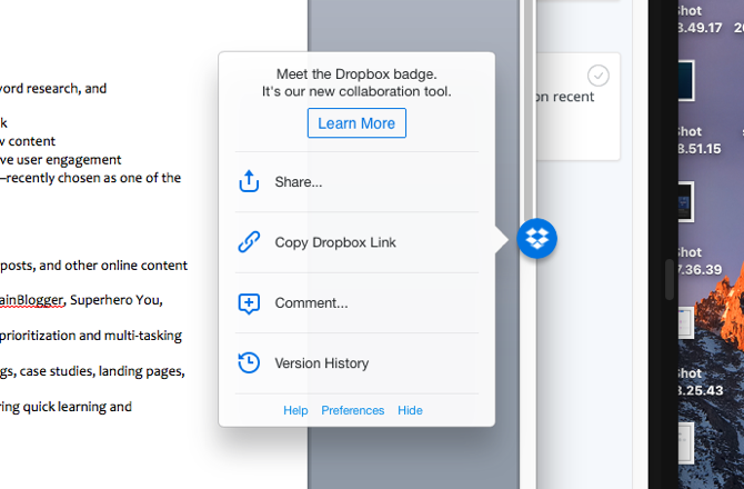 5 Dropbox Tips to Get More Done dropbox badge