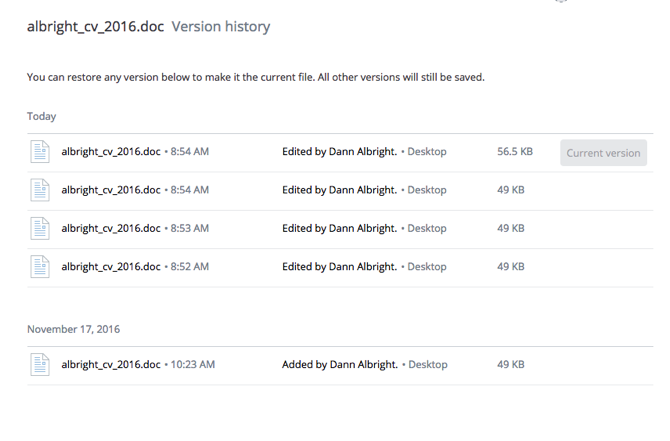 5 Dropbox Tips to Get More Done dropbox version history