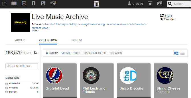 7 Sites Where You Can Download Free Music (Legally!) live music archive 670x344