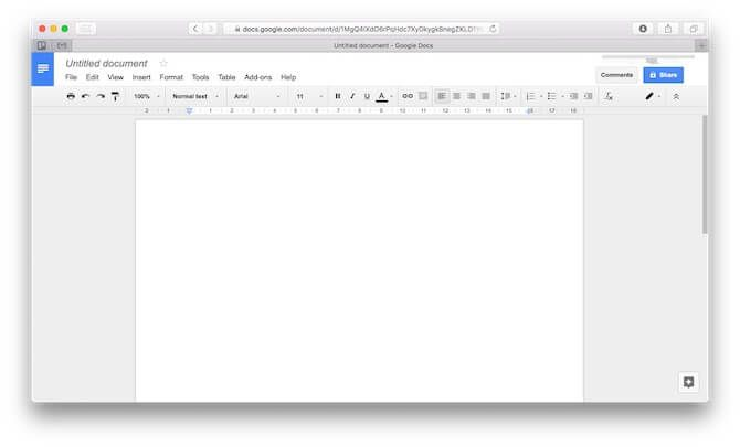 mac office alternatives google docs