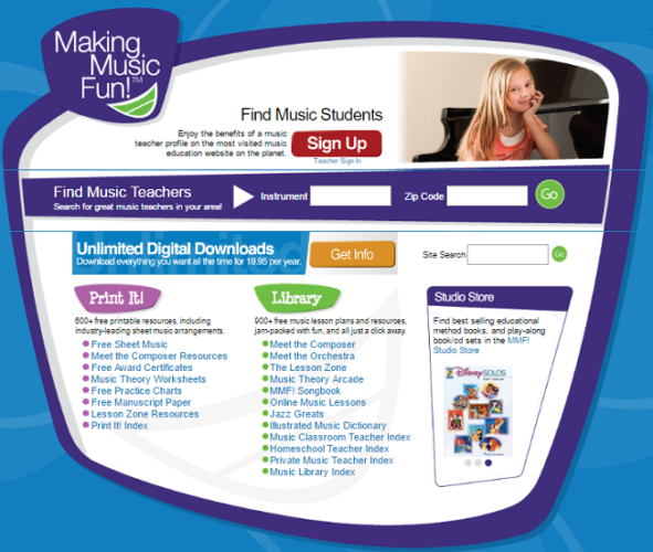 Top 7 Sites to Find and Print Free Sheet Music make music fun 591x500