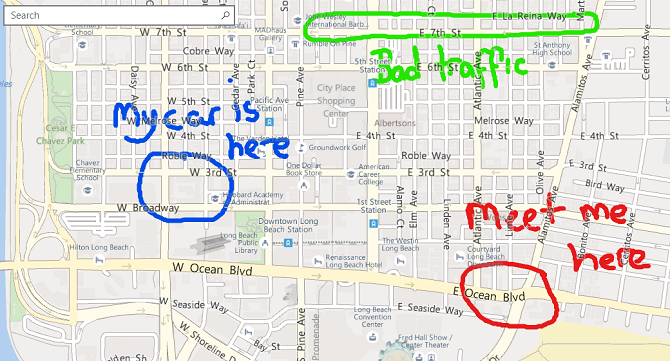 Windows Maps vs. Google Maps: 7 Features Windows Does Better microsoft maps ink notes 670x361