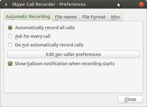 Skype Call Recorder on Linux