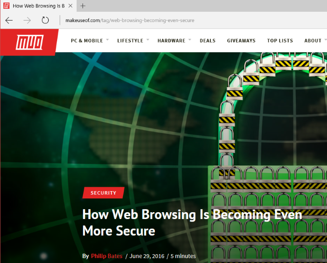 microsoft edge web browsing secure