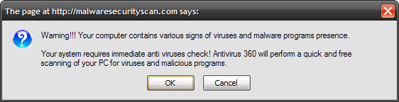 fake malware warning button