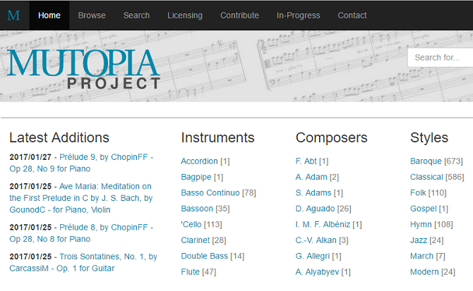 Top 7 Sites to Find and Print Free Sheet Music mutopia project 670x413