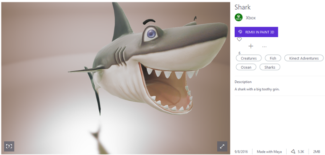 We Tested the MS Paint 3D Preview: Here's What We Think paint 3d shark
