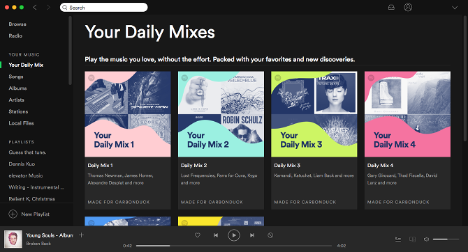 How to Prevent Spotify From Wasting Disk Space spotify interface overview