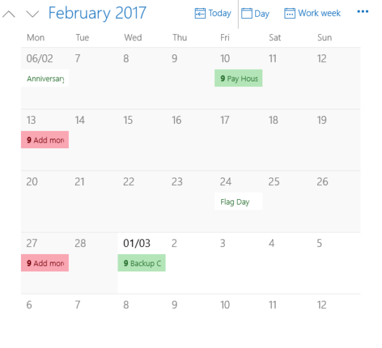 Supercharge Your Windows 10 Calendar With This Guide windows calendar app monthly view 549x500