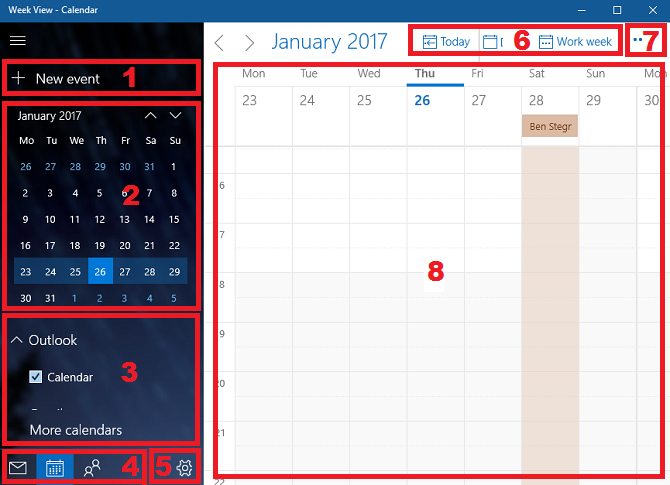 Supercharge Your Windows 10 Calendar With This Guide windows calendar app overview 670x485