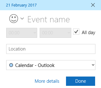 Supercharge Your Windows 10 Calendar With This Guide windows calendar app quick event