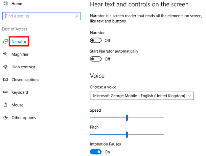 A Brief Guide to Windows 10 Accessibility Tools windows10 narrator 661x500