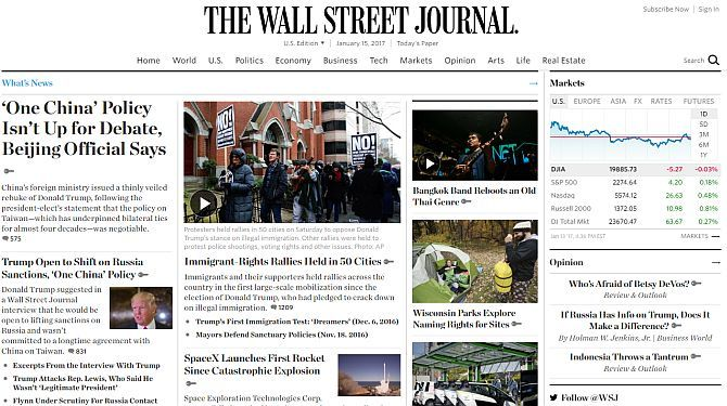 Top 5 World News Websites Guaranteed Free From Censorship wsj1