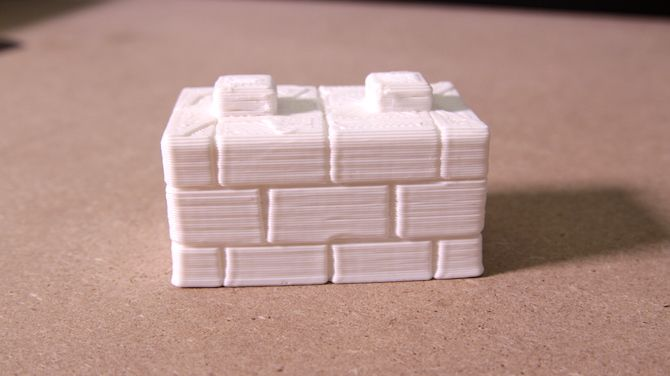 3D Printed Brick Wall Part