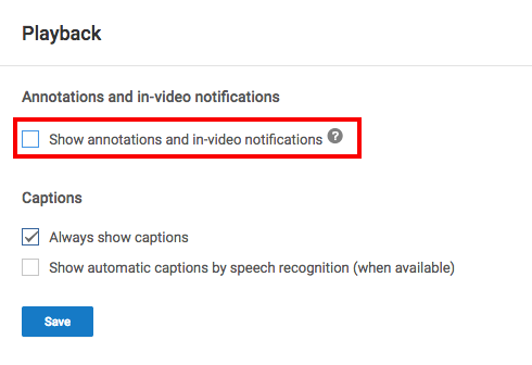 How to Disable YouTube's Annoying Annotations Annotations1