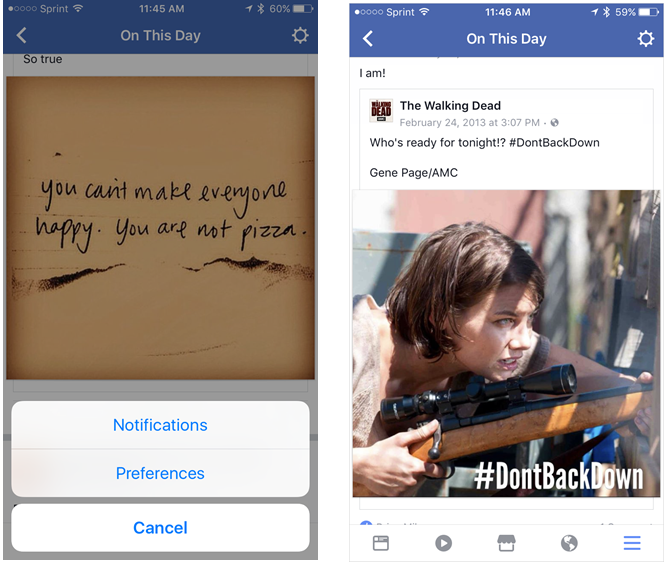 Awesome Facebook Features You Never Thought to Click FacebookOnThisDay iPhone