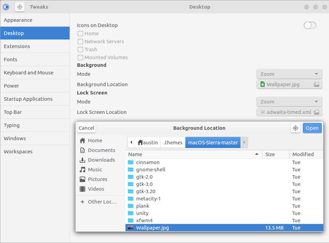 Сделайте GNOME похожим на macOS