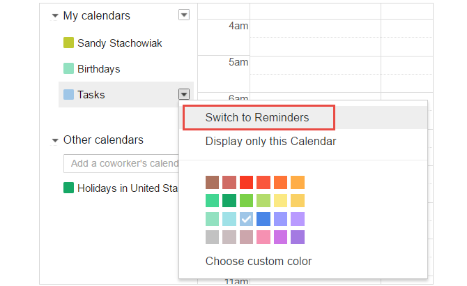 How to Use Google's Productivity Tools to Maximize Your Time GoogleCal TaskReminderSwitch web