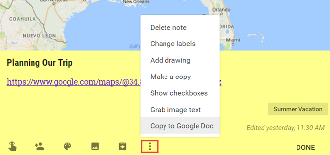How to Use Google Keep to Organize Your Travel Plans GoogleKeepCopyToDoc web