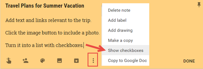 How to Use Google Keep to Organize Your Travel Plans GoogleKeepCreateNoteDescribed web
