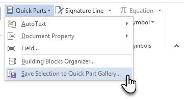 building blocks are reusable microsoft word elements that you can add to any of the galleries available in word