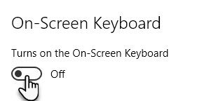 How to Enable/Disable the On-Screen Keyboard in Windows 10 OSK Toggle Off