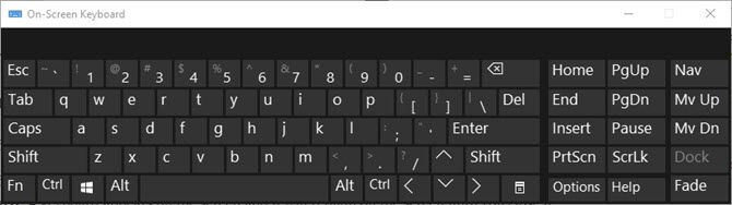 Windows 10 On-screen keyboard