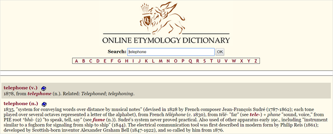 13 Unique Online Dictionaries for Every Situation OnlineEtymologyDictionary web
