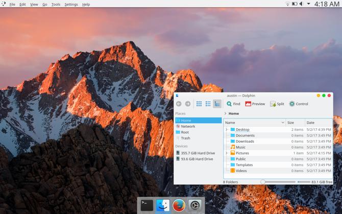 Сделать KDE Plasma похожим на macOS