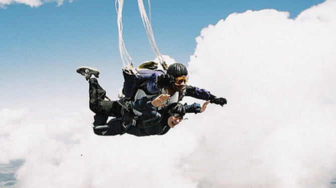 How You Can Shake Off Work Stress With Solo Travel Sky Diving 670x376