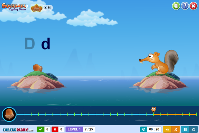 10 Terrific Sites to Teach Kids Typing the Fun Way TurtleDiary SquirrelTyping web