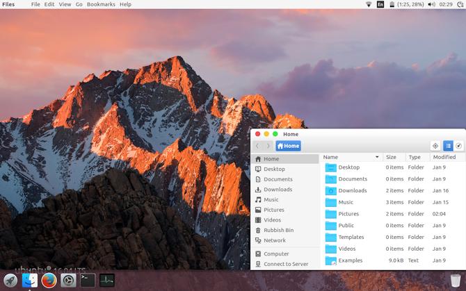 Сделайте Ubuntu похожим на macOS