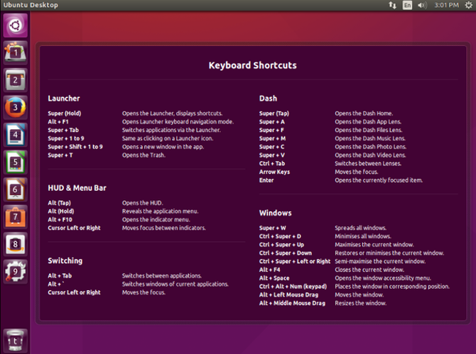 Unity Explained: A Look at Ubuntu's Default Desktop Environment UnityExplained Unity Shortcuts List