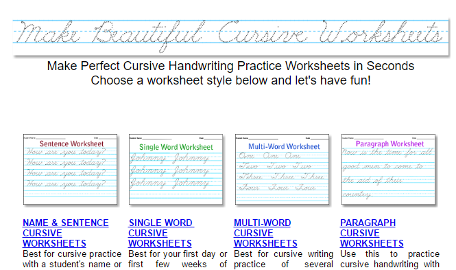 10 Unique Ways To Practice Your Handwriting When You Hate It Beautiful Cursive Worksheets