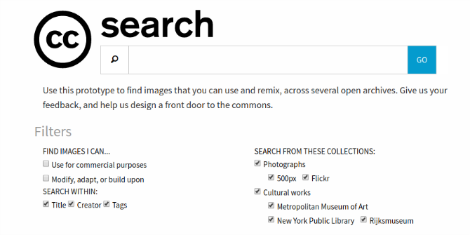 You Can Now Try the New Creative Commons Search Engine creative commons search screenshot