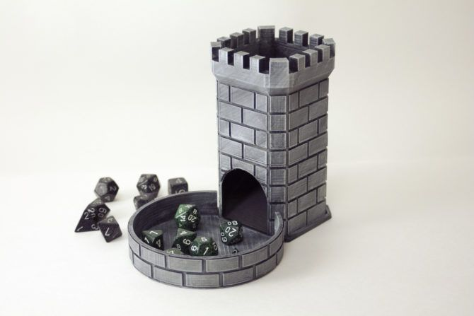The Best 3D Printables for Tabletop Fantasy RPGs dice tower 670x447