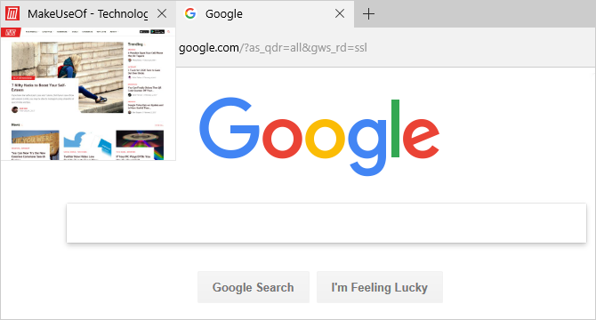 How to Disable Tab Preview in Microsoft Edge edge browser tab preview