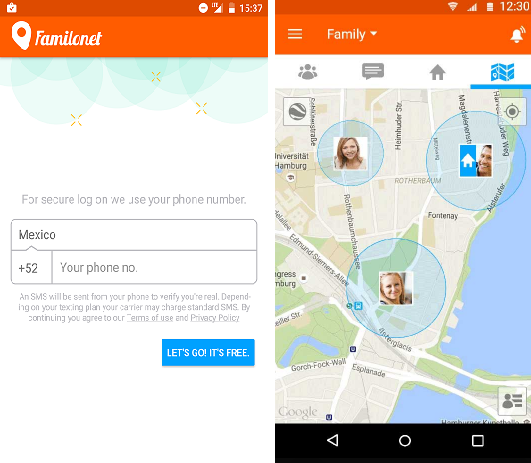 Find Your Friends via GPS With These 5 Free Android Apps familionet